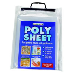 Small Image of Gardman Poly Sheet 6m x 2m (280 gauge poly bag) Clear
