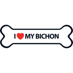Small Image of I Love My Bichon Magnet