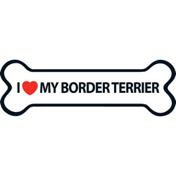 Small Image of I Love My Border Terrier Magnet
