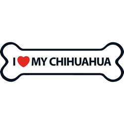 Small Image of I Love My Chihuahua Magnet