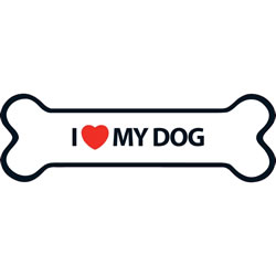Small Image of I Love My Dog Magnet