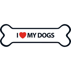 Small Image of I Love My Dogs Magnet