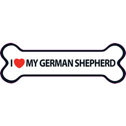 Small Image of I Love My German Shepherd Magnet