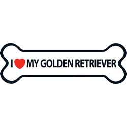 Small Image of I Love My Golden Retriever Magnet