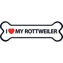 Small Image of I Love My Rottweiler Magnet