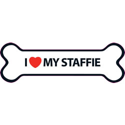 Small Image of I Love My Staffie Magnet