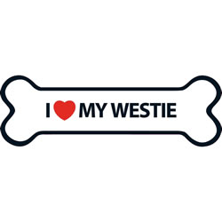 Small Image of I Love My Westie Magnet