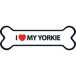 Small Image of I Love My Yorkie Magnet