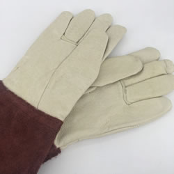 Small Image of Nutley's Ladies Leather Gauntlet Gardening Gloves Handmade Thornproof