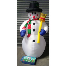 Small Image of Christmas Inflatable Snowman - 1.8m
