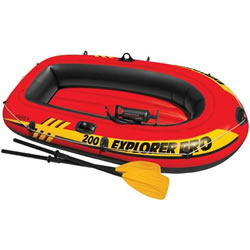 Small Image of Intex Explorer Pro 200 Swimming Pool Boat Set (58357NP)