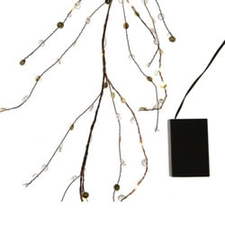 Small Image of Lumineo Warm White Micro-LED Indoor Twig Garland - 1.2m (483480)