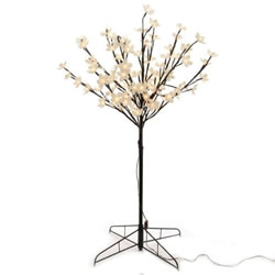 Small Image of Lumineo Warm White LED Outdoor Blossom Tree - 90cm (497932)