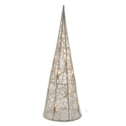 Small Image of Lumineo Warm White LED Cotton Wire Pyramid - 120cm (498655)