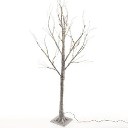 Small Image of Lumineo Green/Warm White LED Sugar Finish Tree - 160cm (499016)