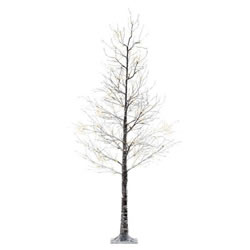 Small Image of Lumineo Green/Warm White LED Outdoor Christmas Tree with Snow - 120cm (499334)