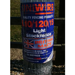 Small Image of 50m Roll of 4ft High Wire Stock Fence