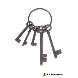 Small Image of Cast Iron Jailers Keys 26cm