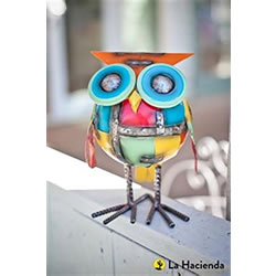 Small Image of La Hacienda Chubby Owl Garden Decorative Animal Owl Ornament