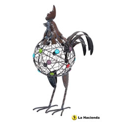 Small Image of Well Fed Cockerel Ornament by La Hacienda