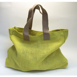 Small Image of 2 Nutley's Citrus Yellow Fairtrade Hessian Bag with Handles Harvesting