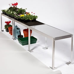 Small Image of Compact Greenhouse Benching - 2.25m long x 38cm wide x 53cm high