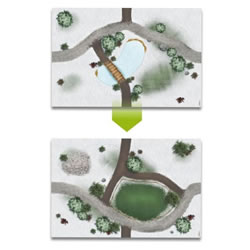 Small Image of My Village - Base Plate Double-Sided Meadow/Lake 59 x 39cm (MYG02)