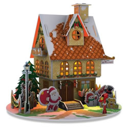 Small Image of My Village - 3D Puzzle Christmas House LED 20 x 20cm (MYPZ01)