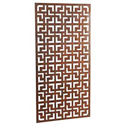 Small Image of Wonderful steel rustic garden metal screen 1.8m tall in a geometric tile design - ideal for a screen fence or wall mounting and climbing plants!
