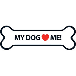 Small Image of My Dog Loves Me Magnet