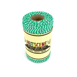Small Image of Nutscene Striped Twine 100% Cotton - Green and White