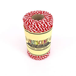 Small Image of Nutscene Striped Twine 100% Cotton - Red and White