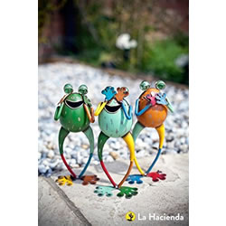 Small Image of La Hacienda 'No Evil' Frogs (Set Of 3) Garden Decorative Animal Frogs Ornament