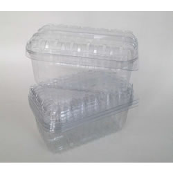 Small Image of 250 Nutley's 250g Clear Fruit Punnet Containers Recyclable With Lids