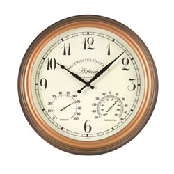Small Image of Astbury Outdoor Wall Clock with Thermometer and Hygrometer