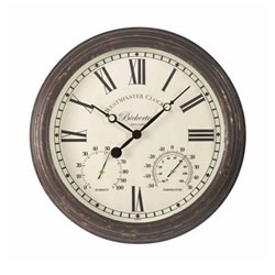 Small Image of Bickerton Outdoor Wall Clock And Thermometer