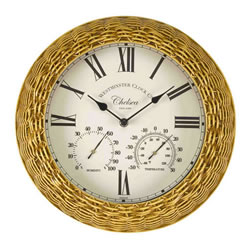 Small Image of Chelsea Wall Clock And Thermometer