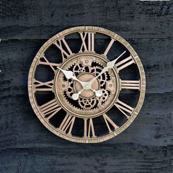 Small Image of Newby Mechanical Bronze Effect Clock
