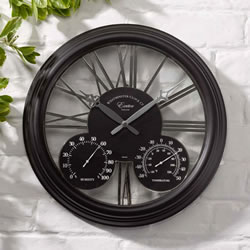 Small Image of Exeter Black Wall Clock
