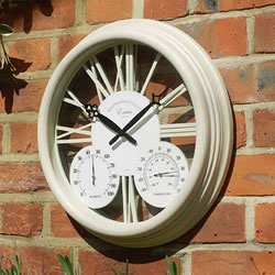Small Image of Exeter Cream Wall Clock