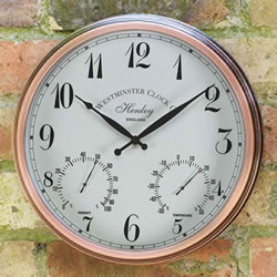 Small Image of Henley Clock & Thermometer