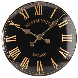 Small Image of Westminster Tower Clock in black
