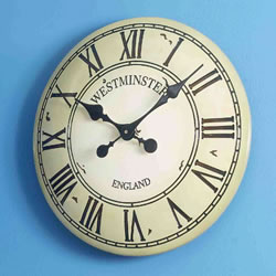 Small Image of Westminster Tower Clock in cream