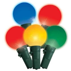 Small Image of Festive 100 Multicoloured LED G24 Faceted Globe Christmas Lights