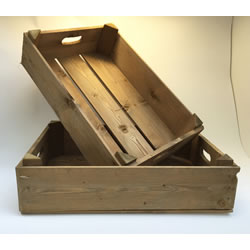 Small Image of Nutley's Honey Pine Half Bushel Box Hand Made Garden Rustic