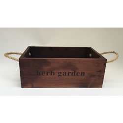 Small Image of Nutley's Large Oak Hand Made Bushel Box Herb Garden Rustic