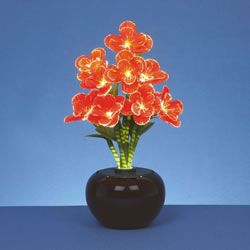 Small Image of Premier Decorations 40cm Fibre Optic Red Begonia Flower (FT141014)