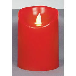 Small Image of Premier Decorations 13cm Dancing Flame Red Candle with Timer (LB122452R)