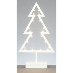 Small Image of Premier Decorations 39cm White Xmas Tree Lights with 20 Warm White LEDs (LB141413)