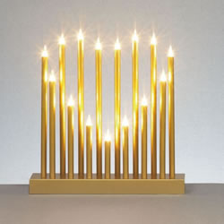 Small Image of Premier Decorations 15 Lights Gold Heart Shaped Candlebridge (LI072061)